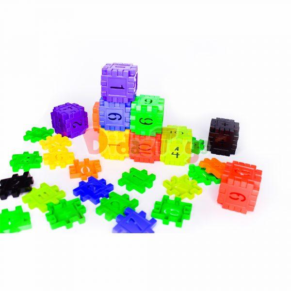 Bloque cubo numeral