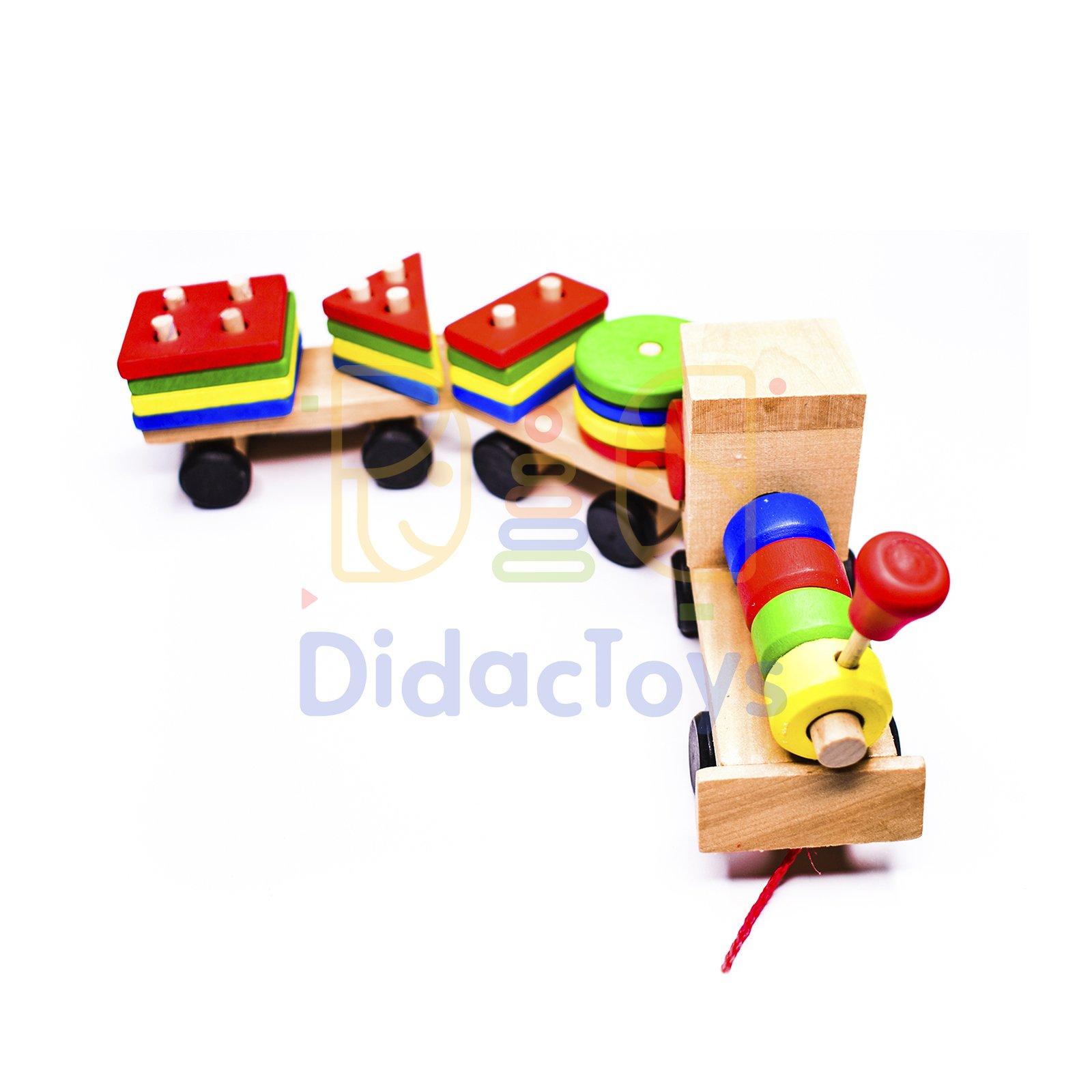 tren de madera para niños