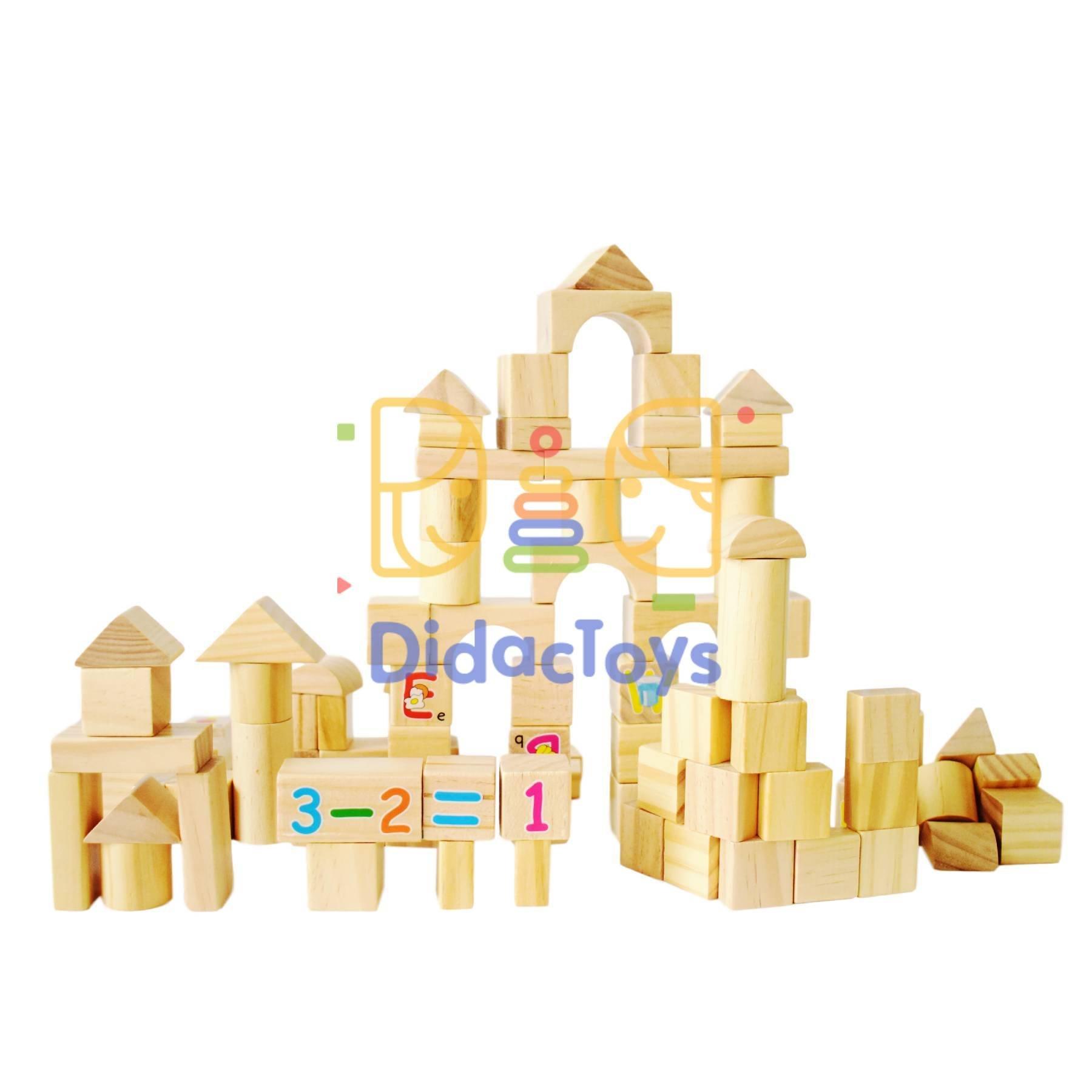 bloques didacticos de color natural
