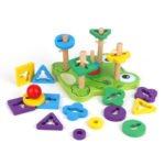 juego de encaje madera rana