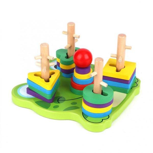 juego de encaje con dificultad madera