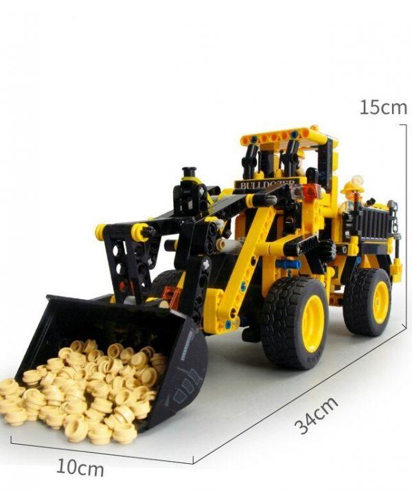 JUEGO EN LEGO DIDACTICO TRACTOR DE MINAS