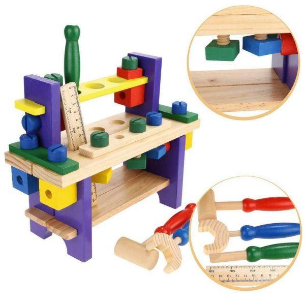 juego de construcción de madera didactico